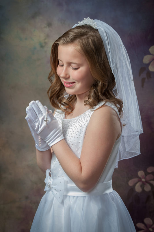 First Communion Photographer in Haddonfield New Jersey