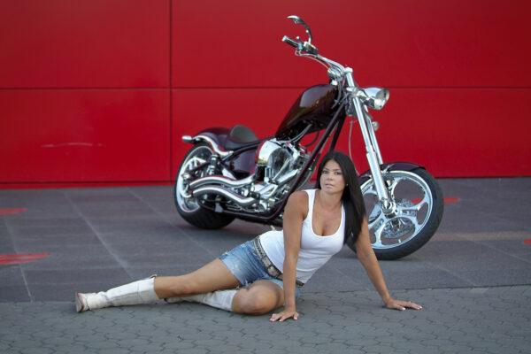 Biker Boudoir Photographer in Marlton New Jersey
