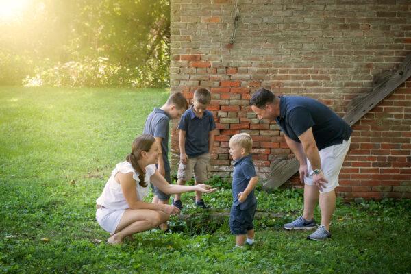 Family Photo at Smithville Park New Jersey